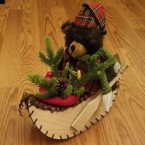 Holiday Bear In Canoe